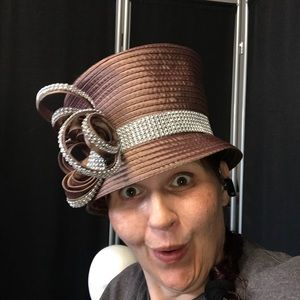 Blingish and a hue of brown church hat